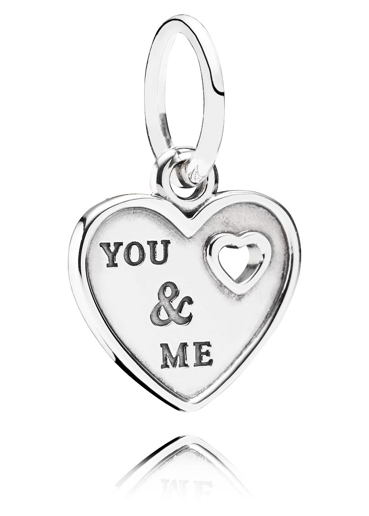 "Pandora Charm ""You and me"" Anhänger Element Silber"