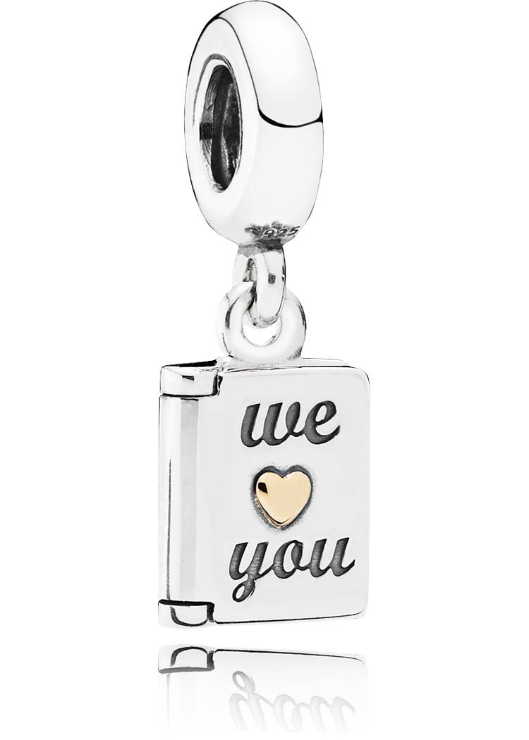 Pandora Charm Element We love you Silber gold