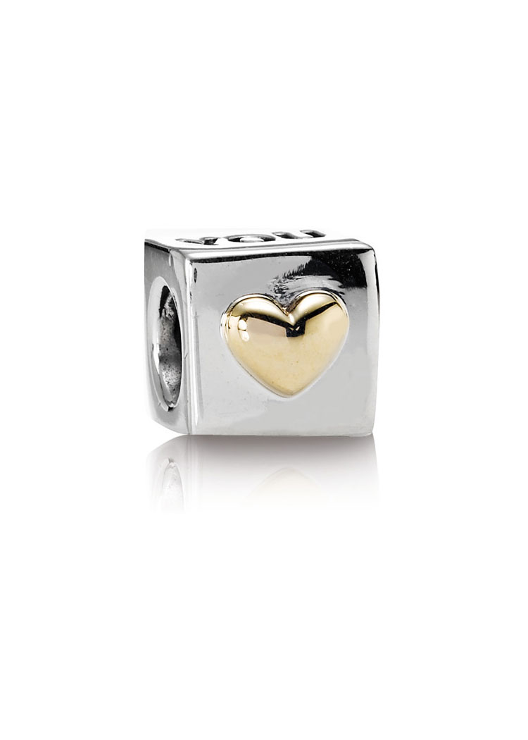 "Pandora ""I Love U"" Bicolor-Element"