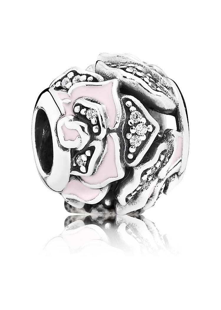 Pandora Charm Element Wildrose Silber rosa