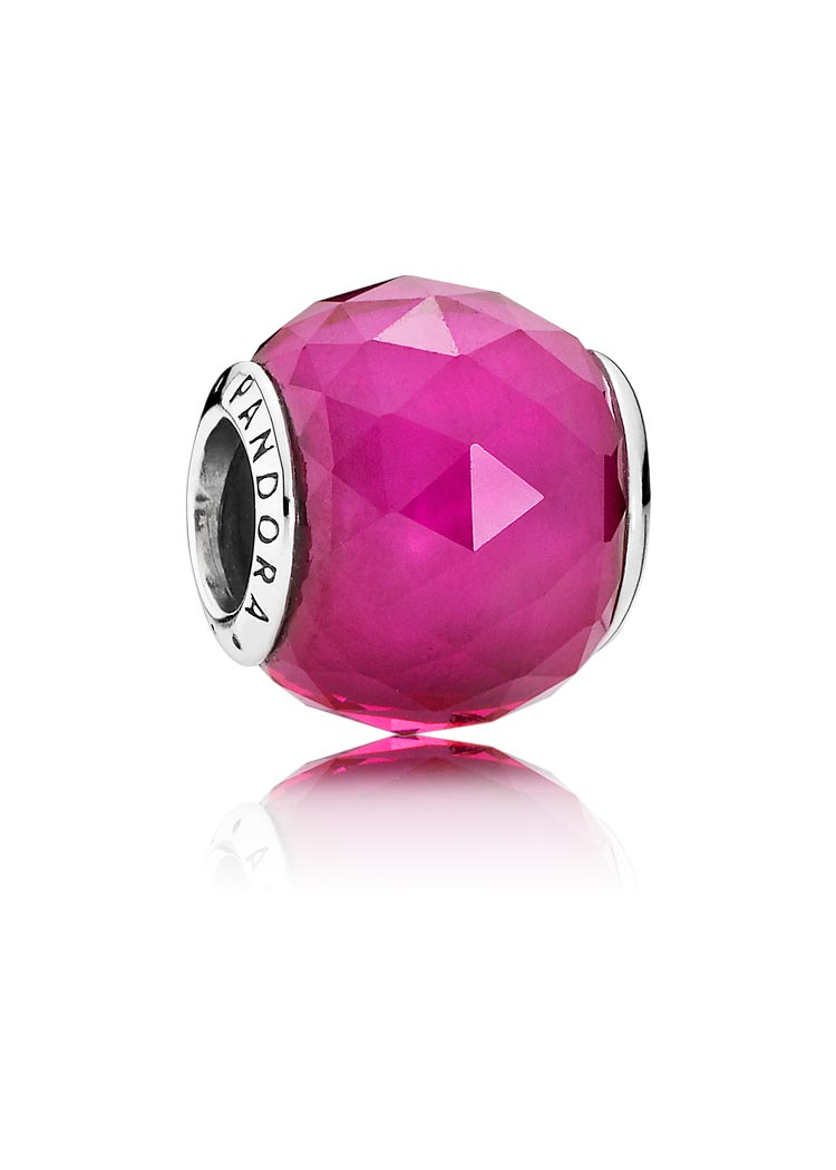 Pandora Charm Rote Petite Facetten Silber