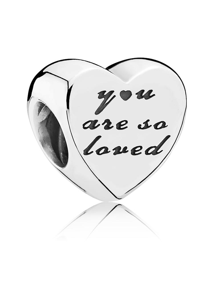 "Pandora Charm ""You Are So Loved"" Silber"