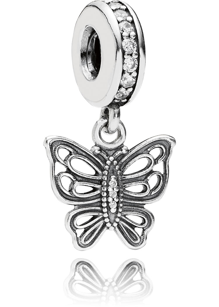 Pandora Charm Element Schmetterling Silber